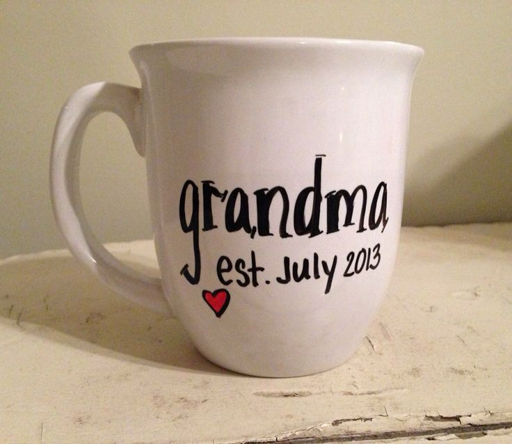 Pregnancy announcement mug by simplymadegreetings on Etsy, $12.00