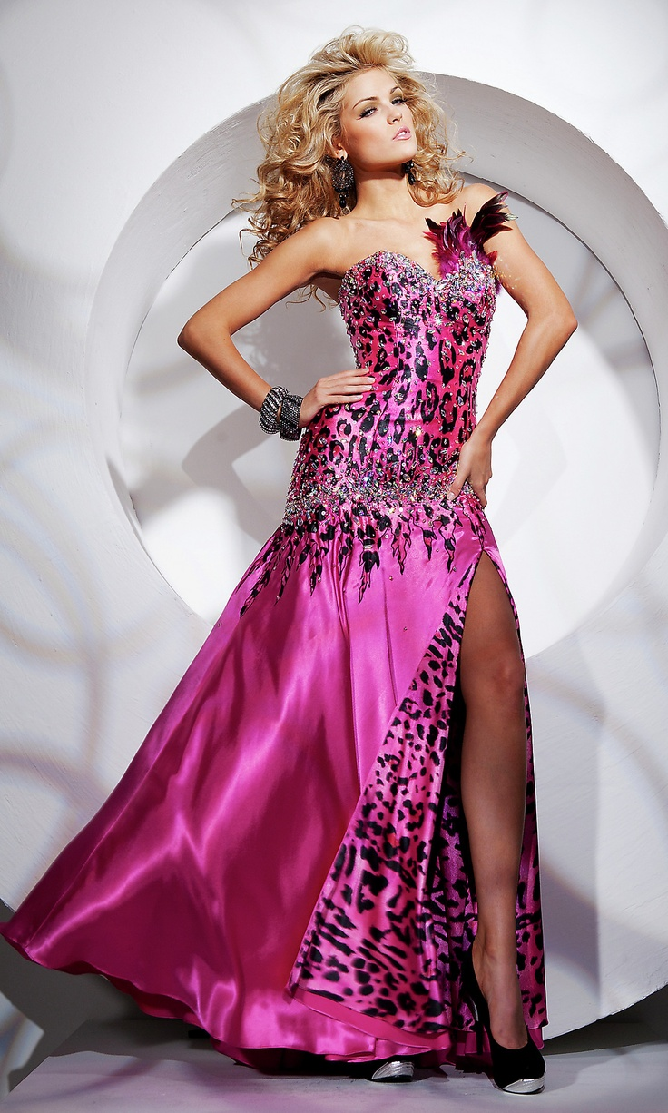 97 best prom dresses images on pinterest ball dresses beautiful if your prom dress comes with its own feathered pieces of flair you might regret animal print dressesleopard print ombrellifo Image collections