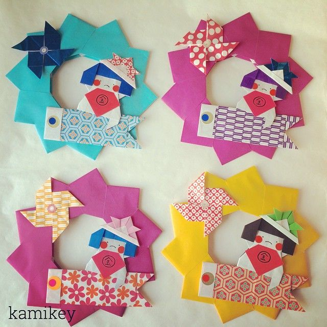 "67 curtidas, 13 comentários - kamikey カミキィ (@kamikey_origami) no Instagram: ""I'm making Kintaro wreath for my child relatives 連休中に会う親戚のおチビちゃん達にあげようとリース作ってます気にいってくれるかなー…"""