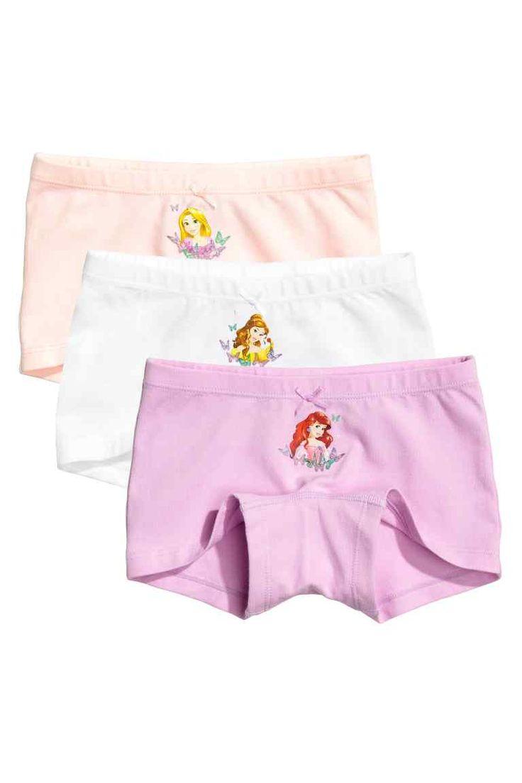 3-pack boxer briefs - Purple/Disney Princesses - Kids | H&M GB 1