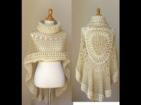Tutorial #166: Poncho a Ganchillo Paso a Paso ~ CTejidas [Crochet y Dos Agujas]