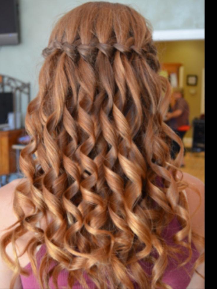 waterfall braid with curls aaaaaaa hair pinterest. Black Bedroom Furniture Sets. Home Design Ideas
