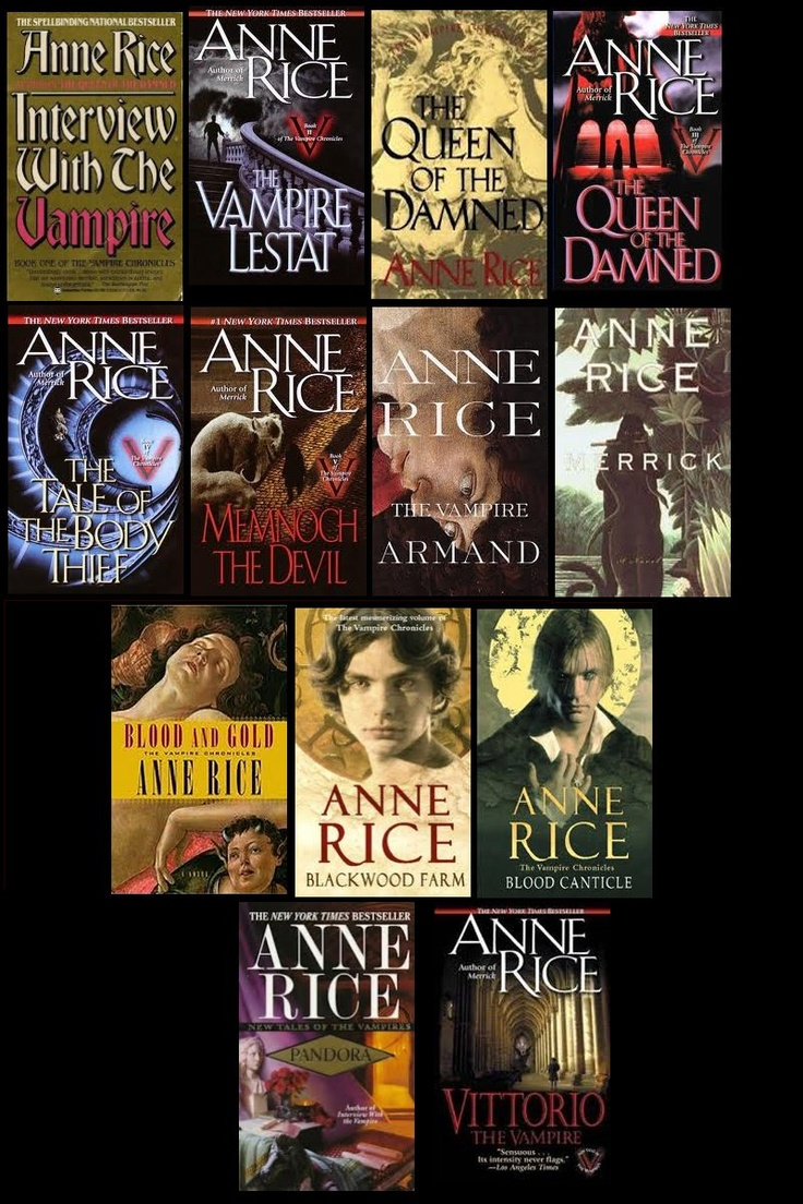 The Vampire Chronicles by Anne Rice the only vampire series worth reading imo