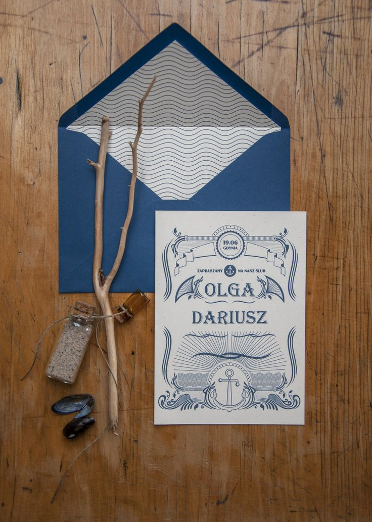 zestaw marina wedding invitations sea miodunka papeteria ślubna Koszalin stationery zaproszenia ślubne styl marynistyczny papeteria
