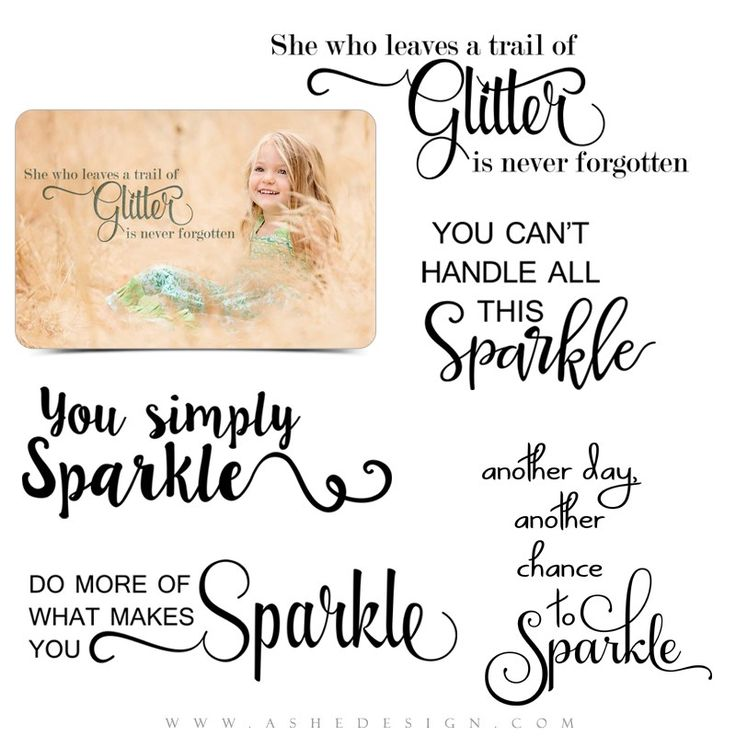 Ashe Design | Word Art Overlays Set | All That Glitters. Each of these photography word art stamps comes as a .png file, which can quickly and easily be applied over any of your digital images or templates.