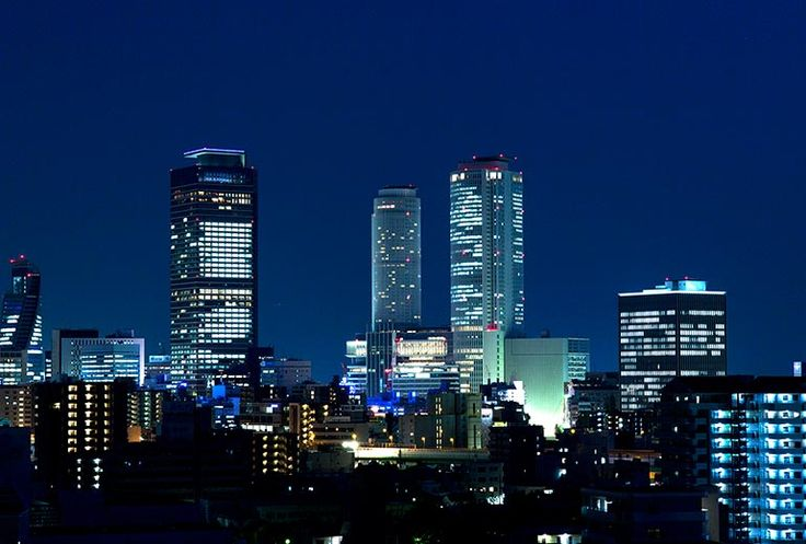 Night view of Nagoya Station Area