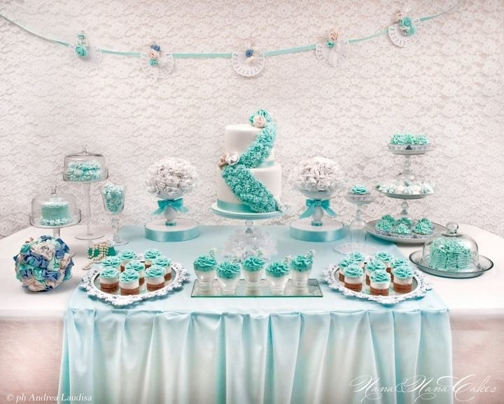 Baby shower cakes baby shower cupcake cake ideas boy - Tiffany Inspired Sweet Table Sweet Sweet Sweet