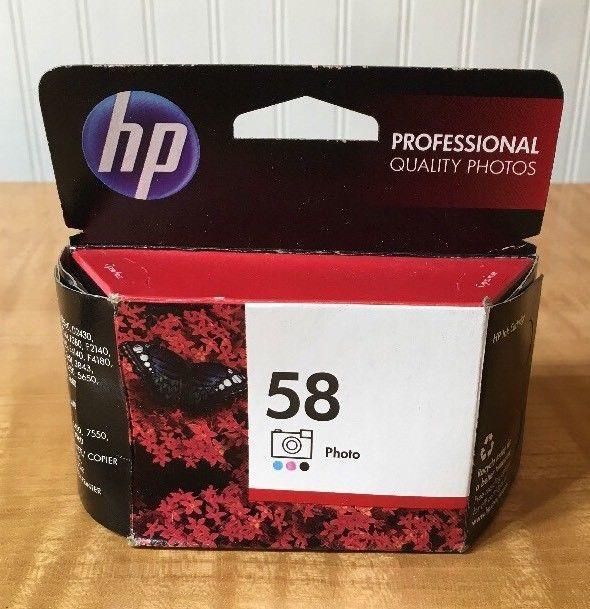 Genuine HP 58 Photo Color Inkjet Ink Cartridge C6658AN Dated 2014  | eBay