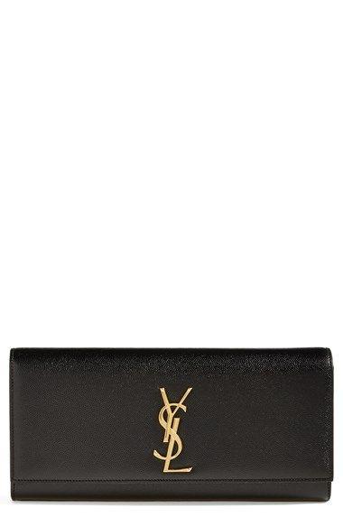 Saint Laurent 'Cassandre' Leather Clutch ❤️