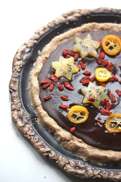 Raw chocolate n' goji berry pie - though everything on this blog looks incredible!