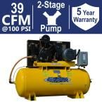 Industrial Plus Series 120 Gal. 15 HP 3-Phase 2 Stage Stationary Electric Air Compressor