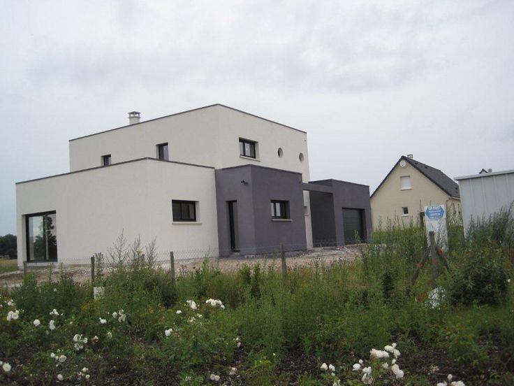 Maison cubique contemporaine par loulouthe33 sur for Facade maison cubique
