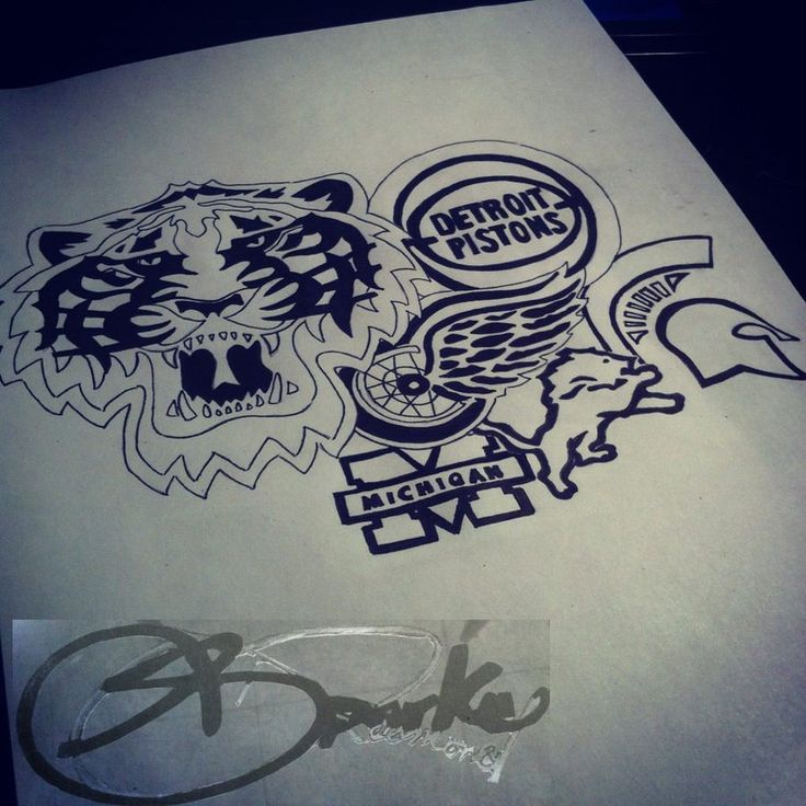 The 25 best detroit tattoo ideas on pinterest tattoo for Detroit d tattoo