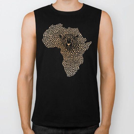 Africa in cheetah camuflage Biker Tank