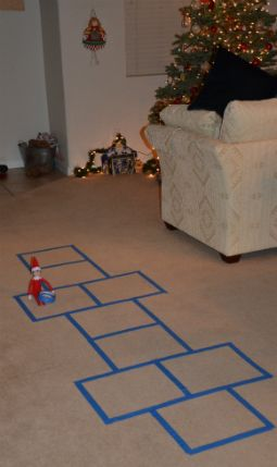Nothing like a little hopscotch with elf to start the day!