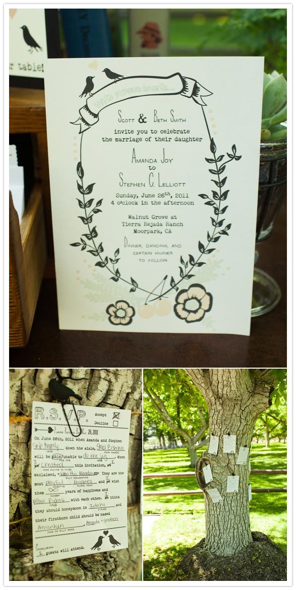 Bride designed her own invitations, and is now working on starting her own stationary business, amazing!