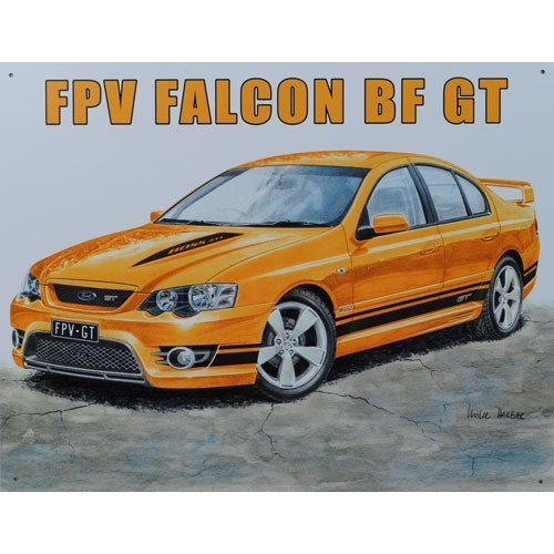 FPV Ford Falcon BF GT Car Tin Sign from Sarah J Home Decor.  $32.95