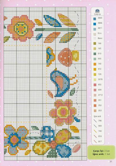 Cross-stitch Springtime, part 8... color chart on part 2...    032013 - galbut - Álbumes web de Picasa