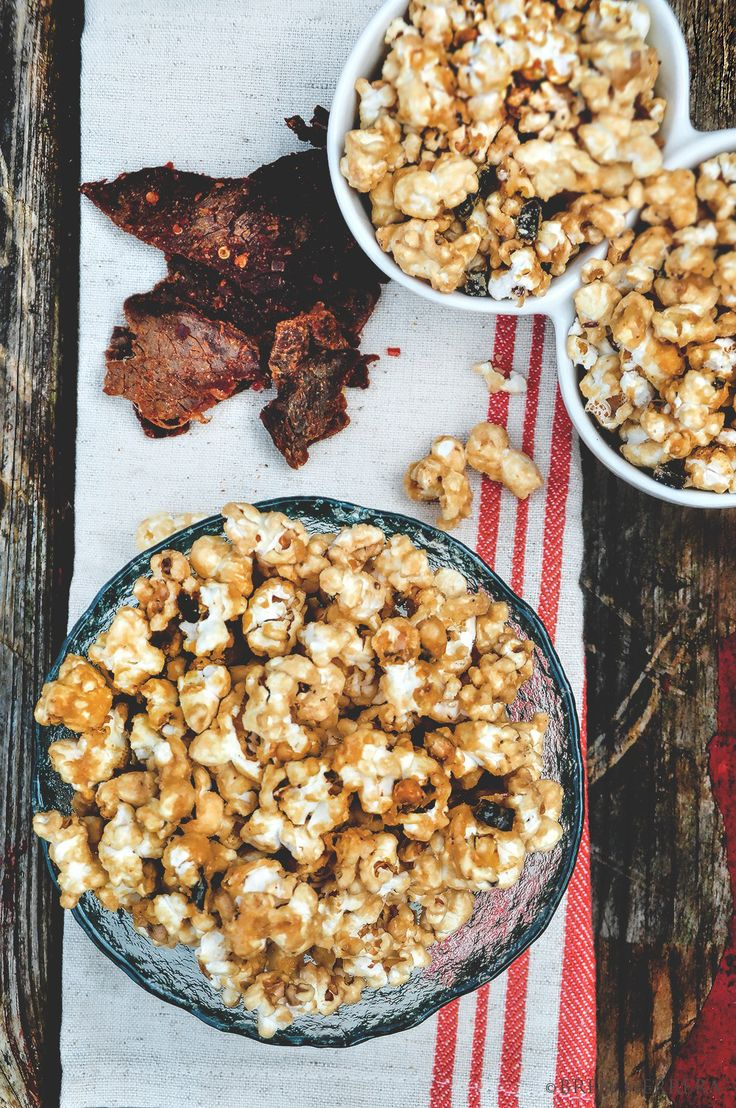 Bren Herrera's Salted Caramel Popcorn w/ Mango Habanero Jerky recipe made on the TODAY show with Tamron Hall