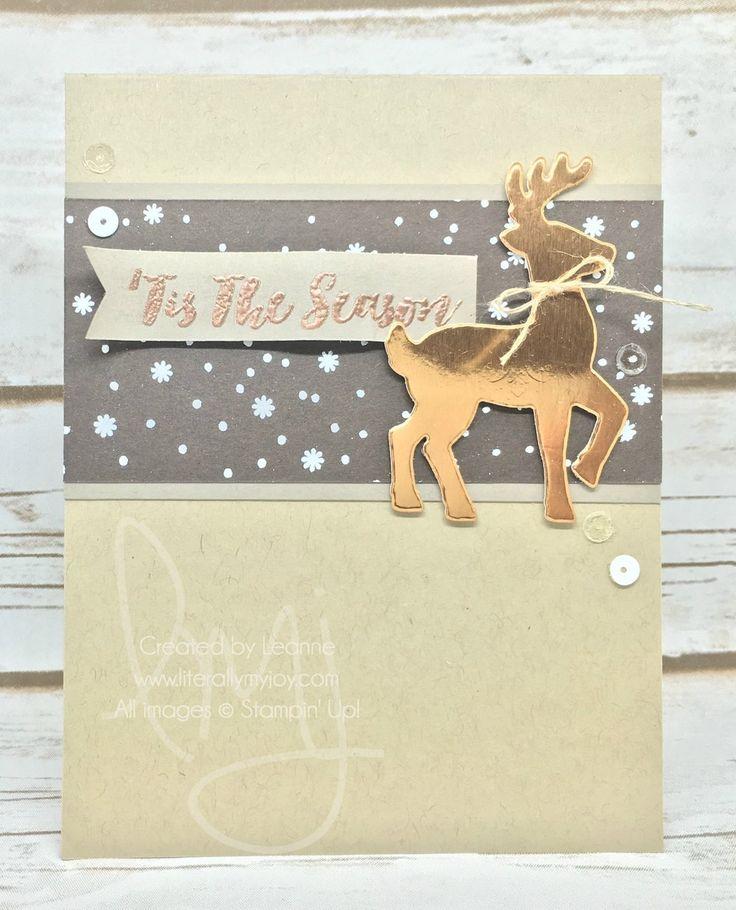 'Tis the Season   Stampin' Up!   Christmas Pines   Santa's Sleigh Thinlets…