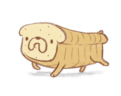 The neighbors have a loaf of bread that's also a dog. #gordito by Jacob Germs