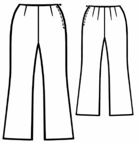 example - #5148 Silk pants without waistband