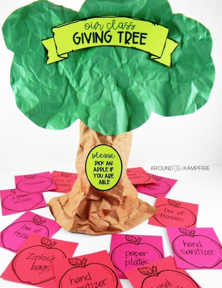 10 Tips for Managing Meet the Teacher like a pro! Easy DIY back to school giving tree for classroom wish lists and parent donations.