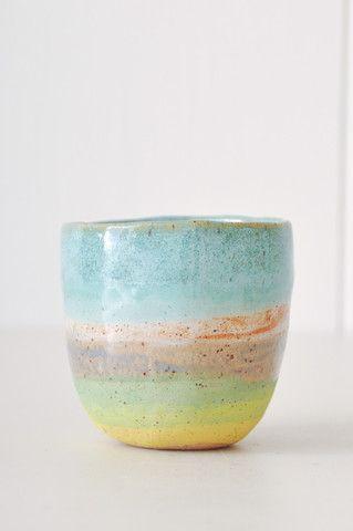 Tea Cup. Handmade in New York by ceramicist Shino Takeda.