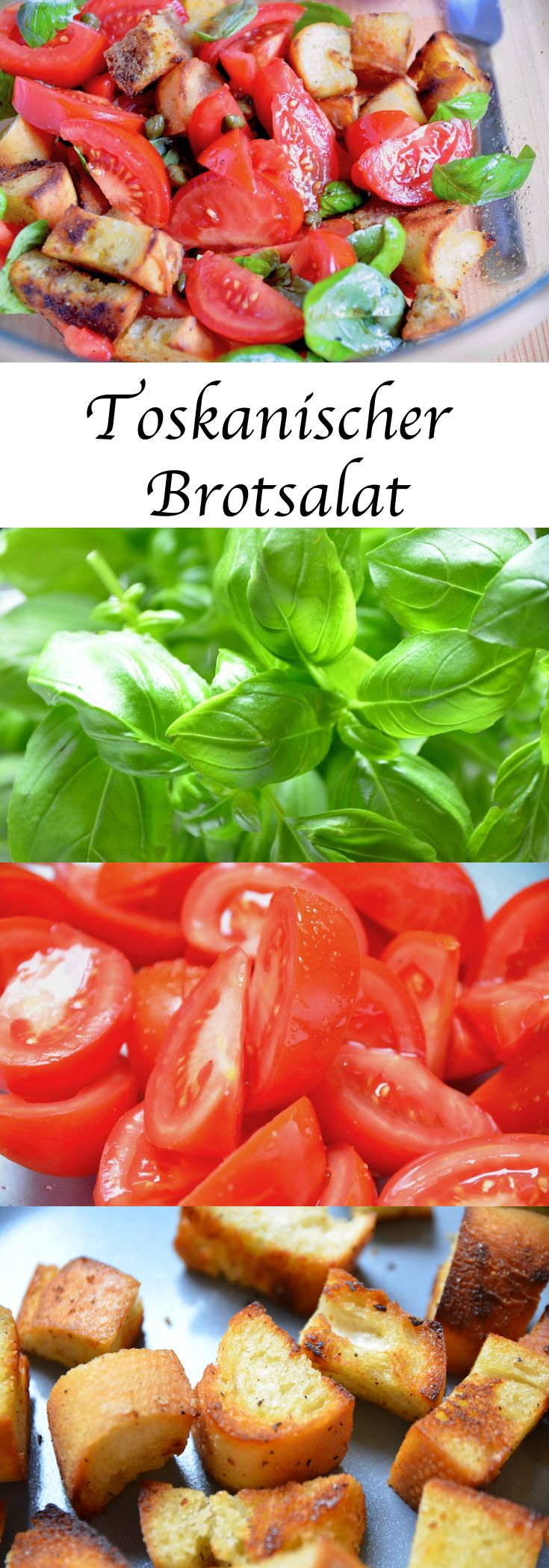 Leckerer Toskanischer Tomaten-Brotsalat, ein Gedicht! Die perfekte Beilage zu gegrilltem Fleisch und Fisch oder einfach als Hauptgang. #Brotsalat #Tomatensalat #Salat