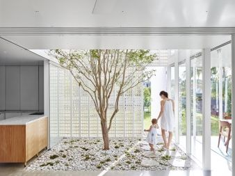 5. Featuring extruded brick on edge and a screen that provides protection from the sun and rain, this permeable dwelling is private and secure