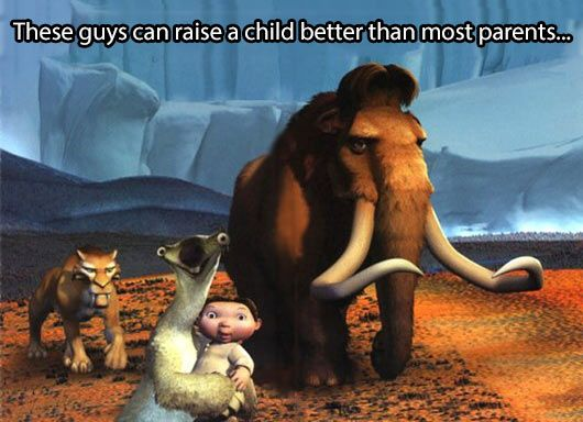 The Ice Age family…