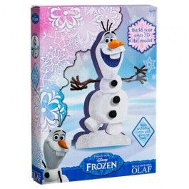 Build your own 3D Olaf model and then decorate with glitter! With wobbling arms and spinning coals. 33x20x1cm.