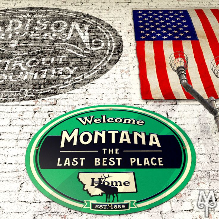 Show your pride in Montana, The Last Best Place. Hang a Montana Treasures MTLBP wall sign in your home today! :)