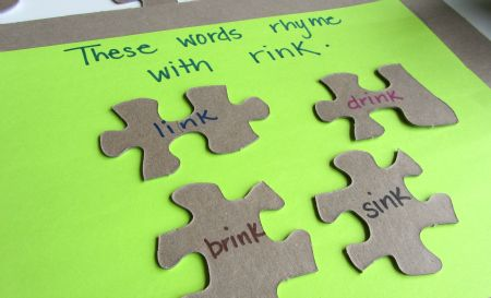 rhyming puzzle pieces