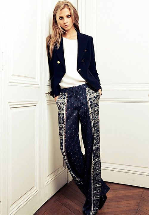 What to Wear: India Vacation Style Patterned pants.