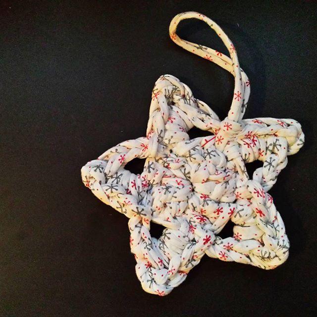 трикотажная пряжа декор звезда