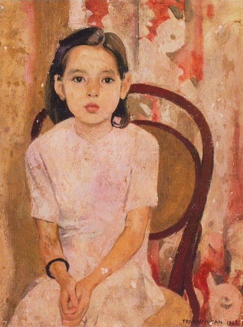Em Thuy (Little Thuy) - (1943) by Trần Văn Cẩn, oil painting on canvas, Vietnam National Museum of Fine Art, Hanoi, (source: ml-review.ca via gentlewave)
