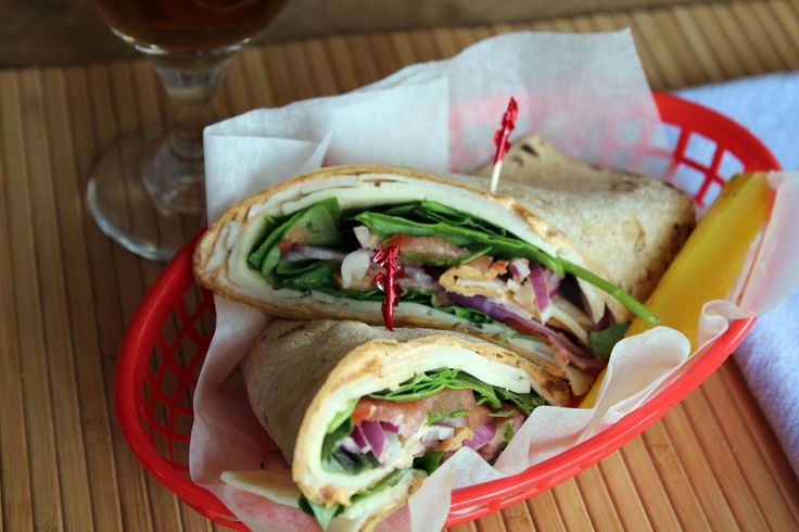 This wrap came to be when I was shopping at Trader Joe's & got a call asking me to bring lunch to a yard work party at my Grandmas house in half an hour! I quickly grabbed some of my favorite sandwich things. My two son's and I favorite sandwich/wrap was born! You can get all the ingredients at Trader Joe's but I still prefer to use Bestfoods mayo & when in season tomato, spinach, and basil out of my dad's garden. I do not really have exact amounts. It is kinda ho...