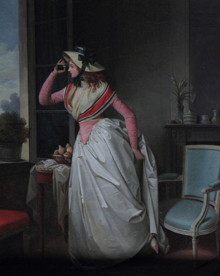 "1780 ""La femme à la lorgnette"" by Henri-Nicolas van Gorp"