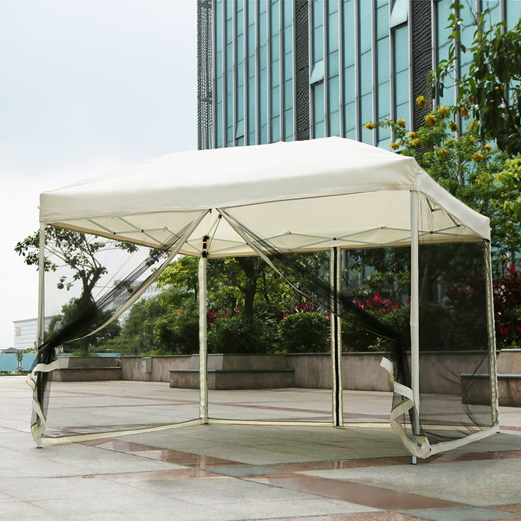 This is a high-quality and practical gazebo. It's beautiful sidewalls can prevent mosquitoes, insects, roof can shade sun and tiny rainto offer a cozy rest place. And only need US$72.99.