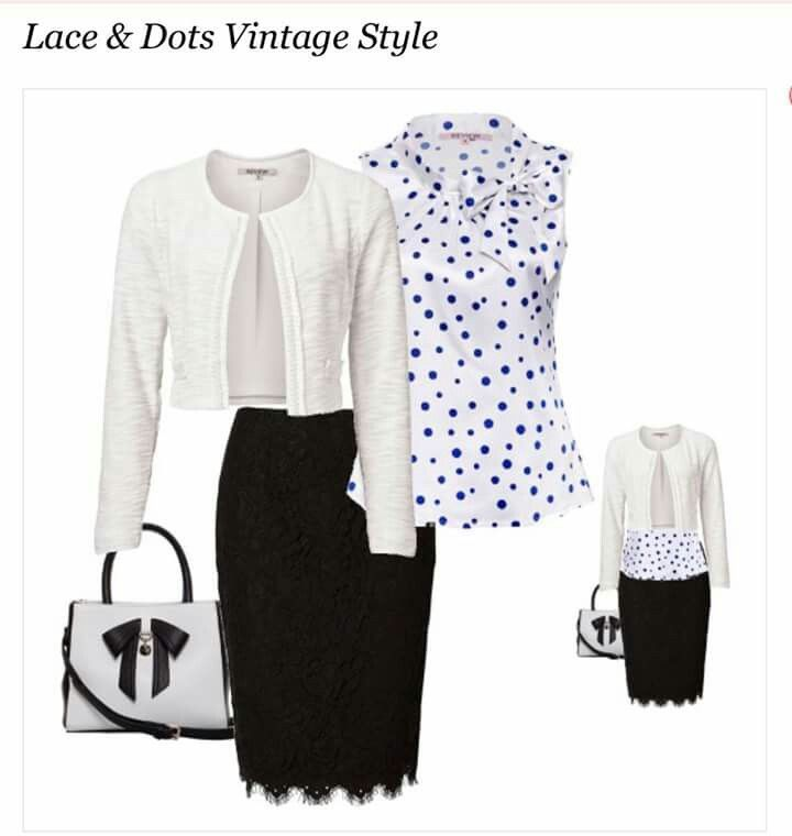 REVIEW fashion retailer-Lace &  Dots Vintage Style.   A sophisticated & chic office attire which can be worn from day to an evening out.   To Shop this look or want more information  click on http://bit.ly/1NbQPVf