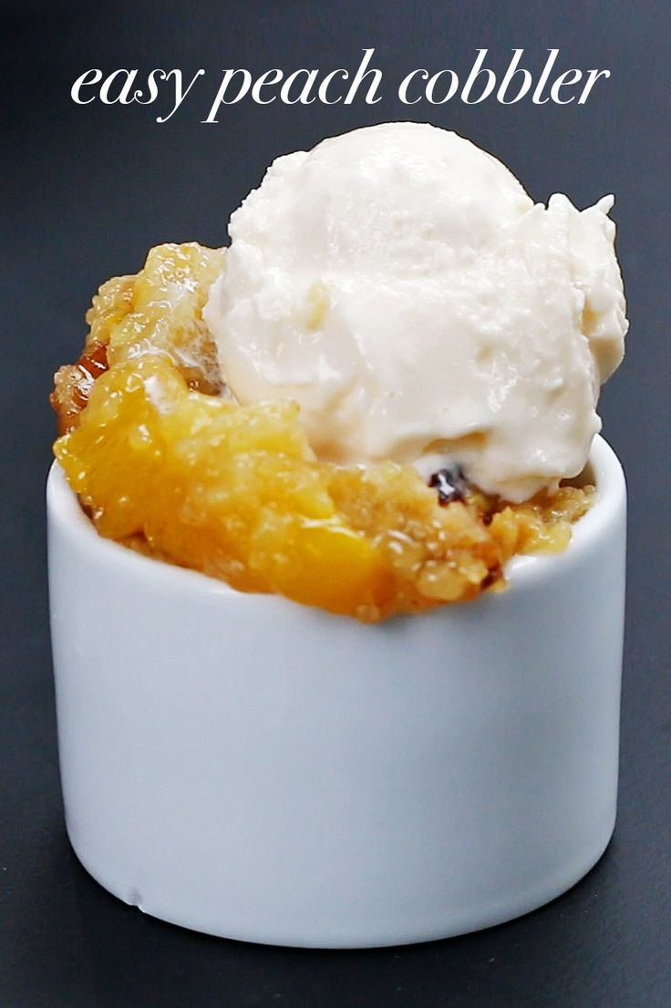 Easy Slow Cooker Peach Cobbler