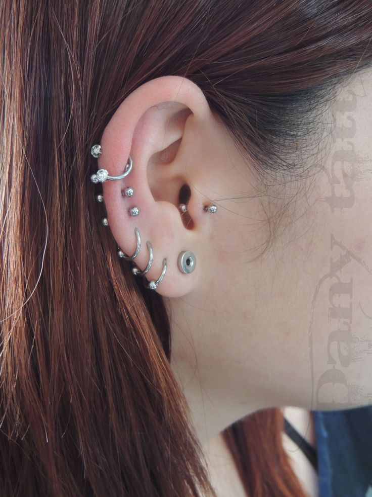 Mais de 1000 ideias sobre Piercing De Orelha no Pinterest | Piercing ... Ear Piercings Cartilage