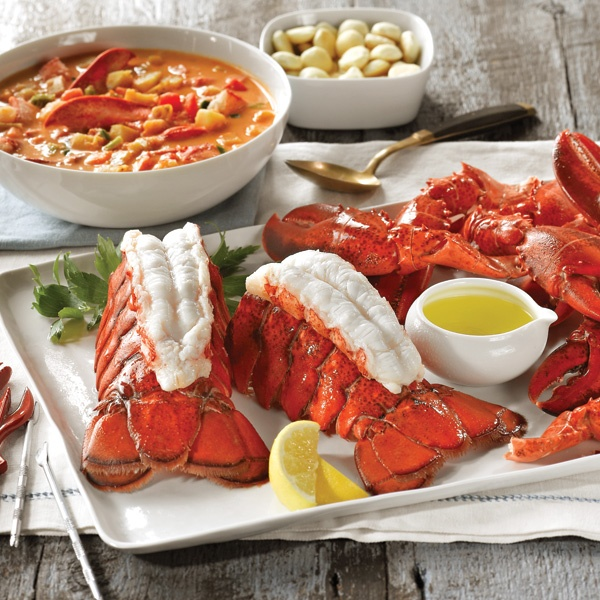 All About Lobster Feast - lobster tails, lobster claws, lobster stew... that about covers it!