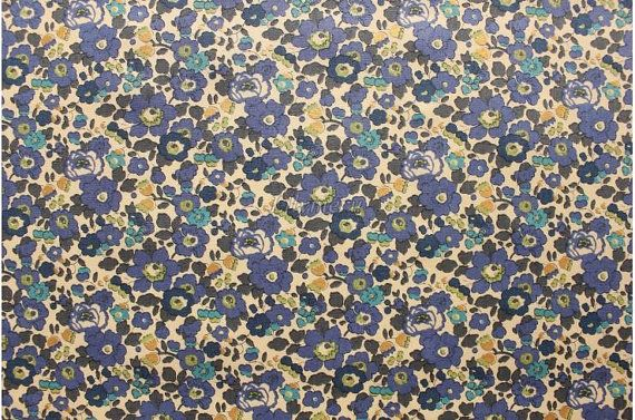 Liberty tana lawn printed in Japan Betsy Navy by lilymeru