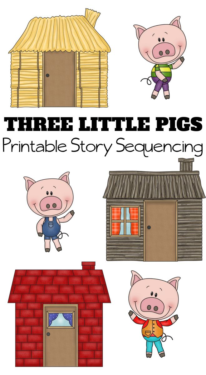 It's just a picture of Unforgettable Three Little Pigs Printable Story