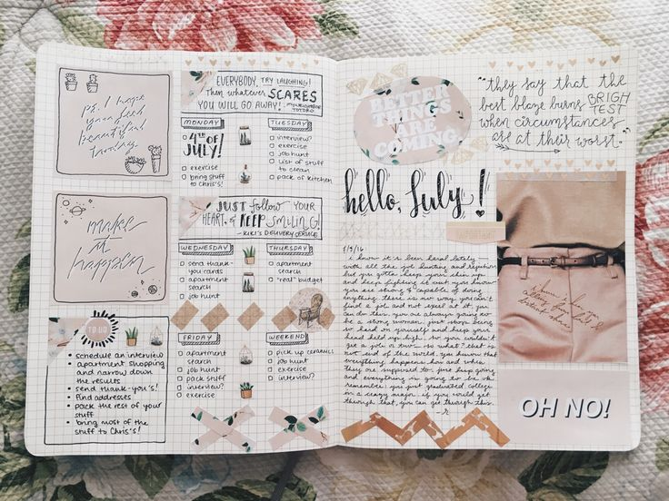 "studypetals: "" 7.4.16+12:08pm // 82/100 days of productivity // journal spread for this week! i have been super productive offline so i haven't gotten to update much, but at least i can show you my..."