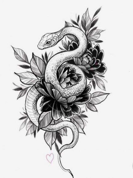 Tattoo Designs Zeichnungen Schlange 23+ Ideen #Tattoos #Tattoosquotes
