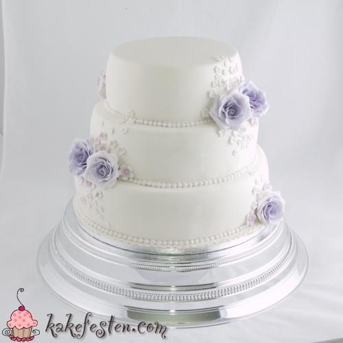 Bryllupskake i lilla nyanser
