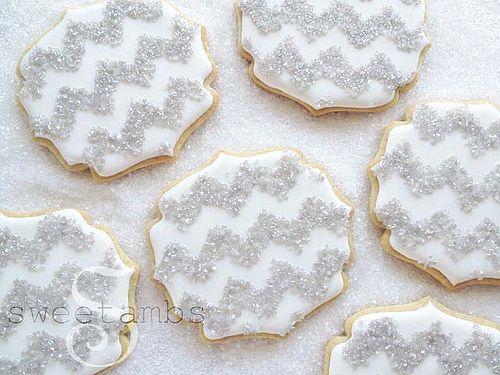 Chevron Cookies   Sparkling sugar chevron cookies. Visit my …   Flickr
